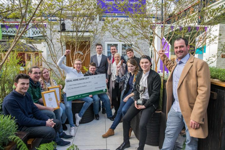 Writtle University College wins the 2017 Young Gardeners of the Year Award at this year's Ideal Home Show