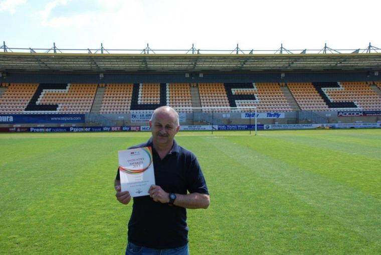 Cambridge United's Ian Darler - winner of the 2015 IOG Unsung Hero of the Year award