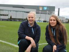 Grounds women apprentices at Manchester City Academy enjoy the outdoor life