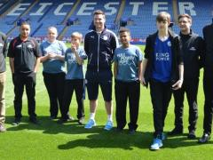 School children get a lesson in world-class pitches at Leicester's King Power Stadium